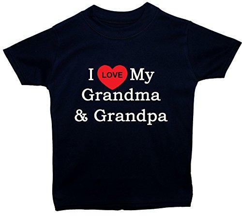 I Love My Grandma & Grandpa bébé/enfants/Tops t-shirts 0 à 5 ans - bleu - petit