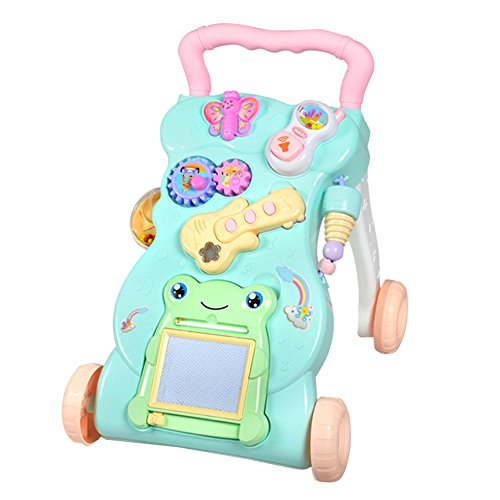 Pueri Andadores para Bebés del Primer Paso con Música Carritas Multifuncional de Aprendizaje Infantil