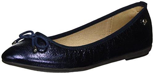 XTI Damen Navy Metallic Ladies Shoes Geschlossene Ballerinas Blau (Navy)