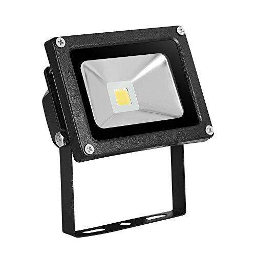 Preisvergleich Produktbild HimanJIe LED 10W Wasserdicht IP65 Außen Fluter Flutlicht Flutlichtstrahler Strahler Außenstrahler Scheinwerfer Gartenstrahler Warmweiß Arbeitsleuchte Baustrahler