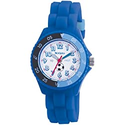 Tikkers Kids Time Teacher Blue Rubber/Silicone Strap Watch TK0002 Football design