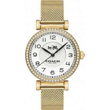 Coach 14502652 Ladies Madison Gold Plated Mesh Bracelet Watch