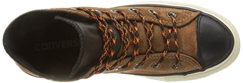 Converse, All Star Hi Suede/Leather Sneaker,Unisex Adulto Cashew Brown/Black
