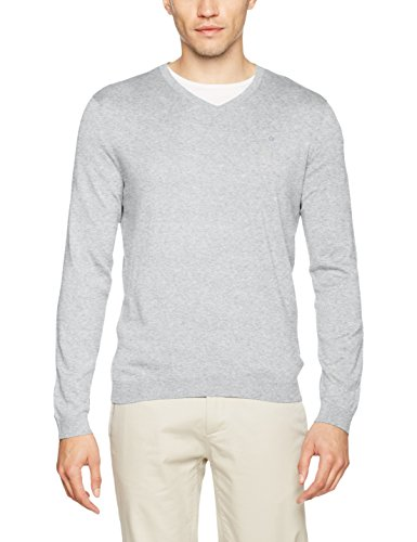 Calvin Klein Saul V  Neck, Pull Homme Gris (Light Grey 061)