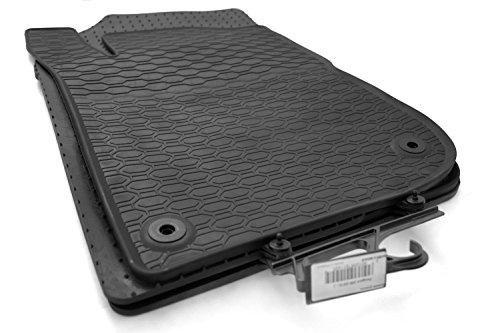 Tapis en caoutchouc KHTEILE qualité d'origine, Tapis de sol 4 pièces en caoutchouc noir.