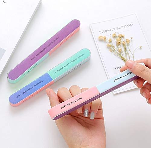 Tery Mode und Einfach Nagelfeile, Nail Buffer-7 Seitige Nagelfeile Professional Nail Art Maniküre Pediküre Buffer Grit-Dateien (Farbe : As Shown, Größe : 17.5.cm*2cm)
