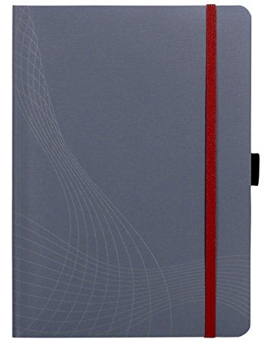 Avery Zweckform 7019 Notizbuch notizio (A5, Softcover, gebunden, kariert, 90 g/m²) 80 Blatt, grau