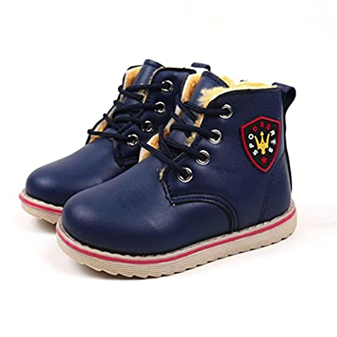 HKFV Superb Marvellous Cool Shoes BootsChildren Fashion Boys Girls Martin Sneaker Winter Thick Snow Baby Casual Shoes Attractive Charming Style (Dark Blue 29)