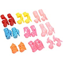 Pinzhi - Vestidos y Zapatos para Barbies Muñecas Juguetes (10 Pares Zapatos)