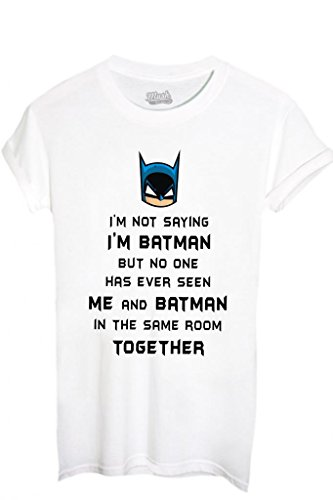 T-Shirt I'M Batman - Lustig By Mush Dress Your Style - Jungen-XL Weiß