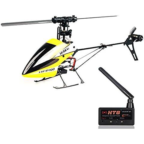 Bluelover Hisky HFP100 V2 4CH 6 Axis GIROCOMPÁS RC helicóptero + HT8 módulo por Radio