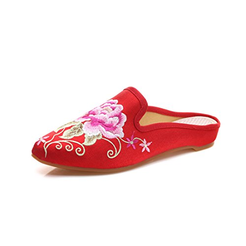 Yy.f YYF Femme Fille Chausson Plat Maison Style Chinoise