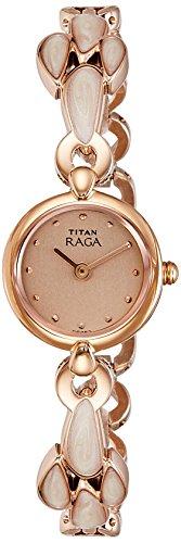Titan Analog Gold Dial Women's Watch-NK2444WM05