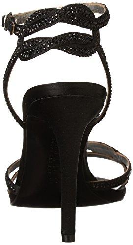 Lauren Ralph Lauren Stephanie Dress Sandal Black Satin/Stones