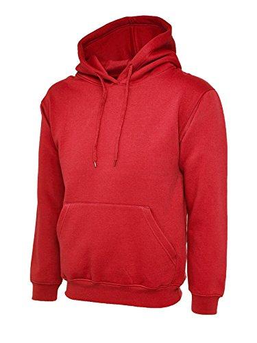 Nuovo Uneek classico felpa con cappuccio felpa con cappuccio-Shirt Rosso