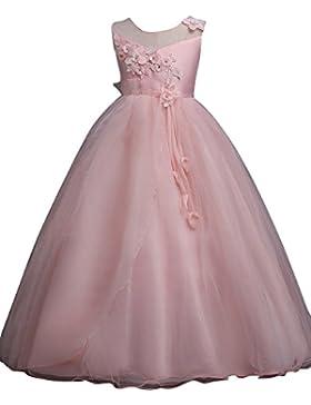 Niña Elegante sin Mangas de Vestido Fiesta de Princesa Ceremonia Boda Coctel Vestidos 110CM/3-4Años