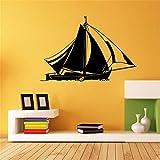 pegatinas de pared personalizadas Barco para sala de estar sofá de fondo