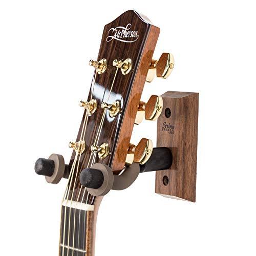 String Swing cc01-bw Hartholz Home & Studio Wandhalterung Gitarre Kleiderbügel-schwarz walnuss
