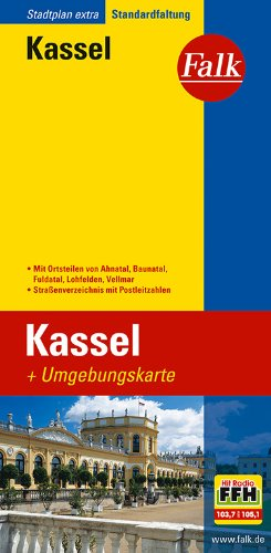 Falk Stadtplan Extra Standardfaltung Kassel