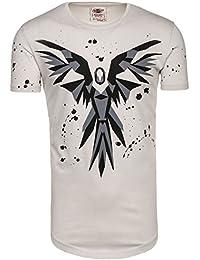BOLF Herren T-Shirt Tee Slim Fit Classic Kurzarm Rundhals Party BREEZY 300 3C3 Motiv