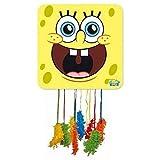 CAPRILO. Piñata Infantile Decorativa para Cumpleaños Bob Esponja  46x46 cm. Juguetes y Regalos...