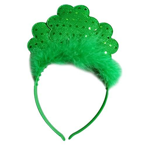 Wanjis Smart st Patricks Day Irland Irisch Kostüm Bommel Kopfschmuck Kopf Wiggly Stirnband Mini Hut - Feder Haarband (Bommel Kopf Kostüm)