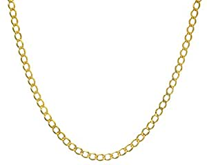 Citerna 9 ct Yellow Gold 13.7 g Curb Necklace of 46 cm/18 Inch Length and 5.8 mm Width