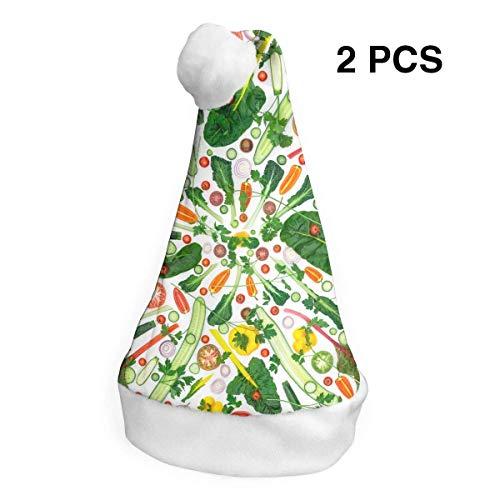Weihnachtsmannmütze, Obst, Gemüse, Frohe Weihnachten, Hüte, Erwachsene, Kinder, Kostüm, Weihnachtsdekoration, Partyzubehör (2 Stück)