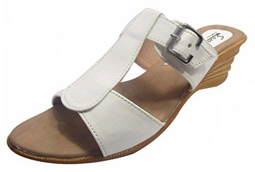 Sammy slip-on Sandale bout ouvert chaussures de sport de femmes Blanc