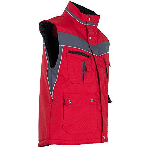 Plaline Arbeitskleidung Winter Weste rot/schiefer rot/schiefer