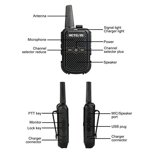 Zoom IMG-2 retevis rt15 mini walkie talkie