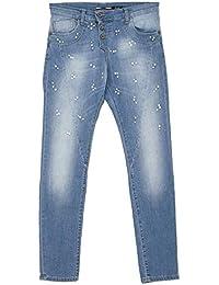 21757 PLEASE Damen Jeans Hose P78A Slim Stretch midblue blau