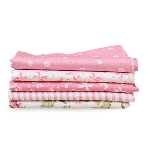 king-do-way-5x-baumwolltuch-stoffpakete-patchwork-stoffe-baumwolle-stoffreste-paket-reste-rosa-54x50