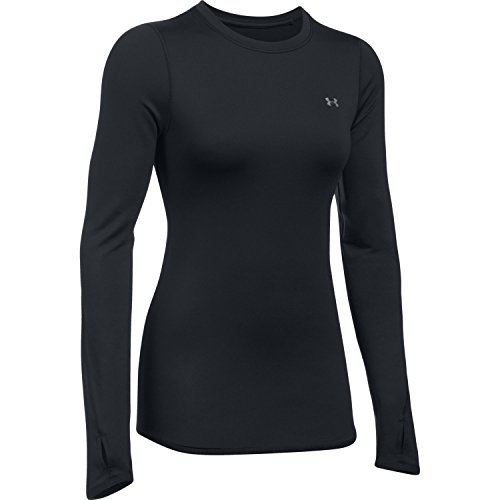 Under Armour Damen UA CG Armour Crew Langarmshirt, Black, MD