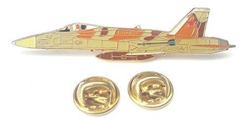 F-18 U.S Marine Hornet Flugzeug Seitenansicht Emaille Reversnadel Abzeichen (Flugzeug F18)