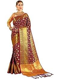 1369eed81659c1 EthnicJunction Booti Zari Butta Banarasi Silk Saree With Zari Thread Work  Unstitched Blouse Piece(EJ1203