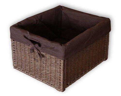 """KMH®, Praktische Korb-Box \""""JYTTE\"""" im Rattan-Look (braun mit braunem Innenfutter) (#204049)"""