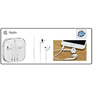 100% Genuine & Original Apple iPhone 4/ 4S/ 5/ 5S/ 6/ 6S EarPods Earphone With Mic and Sound Control Comes With 1 Month Replacement Warranty