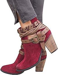 Minetom Stivali Donna Invernali Autunno con Tacco Boots Stivaletti Stivali  Moda Elegante Sexy Tacchi Alti Casual d88bd056bbf