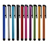 10x Original Universal Capacitive Stylus Touchscreen Pen for ipad 1 & 2, 3 iPhone 5, 4s , HTC, Tablet pc, Asus Tablets, Advent, Samsung Galaxy, Mobile Phones, PC, Blackberry Playbook & Phones, Android and all other Capacitive Screens Devices (10x, mixed colour )