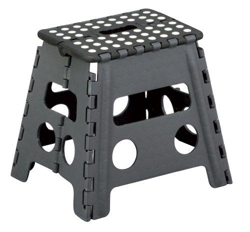 Zeller 13731 Klapphocker, Kunststoff 37 x 30 x 32 cm, schwarz/anthrazit