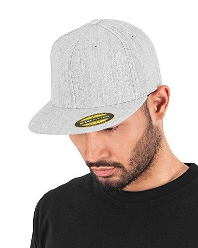 Adult Premium 210 Flexfit Fitted Cap grey Heather Size:S/M by Flex fit (Flex 210 Cap Fit)