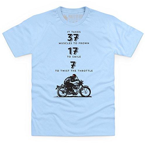 Twist The Throttle T-Shirt, Herren Himmelblau