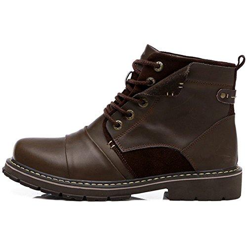 COOLCEPT Herren Klassischer Schuhe Chukka Boots Hohe Stiefel Braun