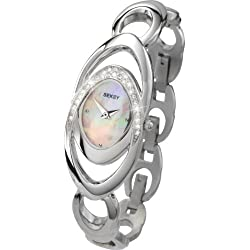 Seksy Women's Quartz Watch with Mother of Pearl Dial Analogue Display and Polished Stainless Steel Bracelet 4281.39