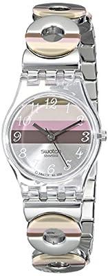 Swatch Metallic Dune Lk 258G - Reloj de mujer de cuarzo, correa de acero inoxidable color plata de Swatch