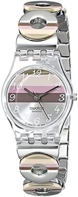 Swatch Metallic Dune Lk 258G - Reloj de mujer de cuarzo, correa de acero inoxidable color plata