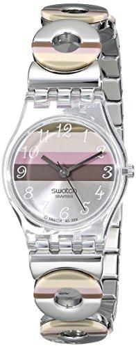 Swatch Metallic Dune Lk 258G – Reloj de mujer de cuarzo, correa de acero inoxidable color plata