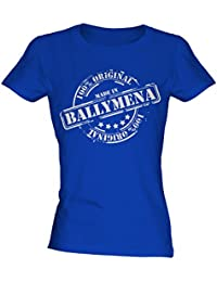 Made In Ballymena - Ladies Fitted T-Shirt T Shirt Tee Top