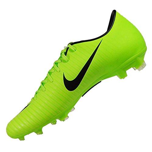 Nike Jr Mercurial Vortex Iii (V) Fg, Chaussures de Football Entrainement garçon Noir, blanc et violet